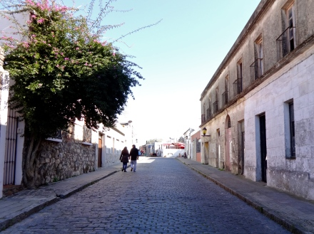 Cobblestone calle in Colonia