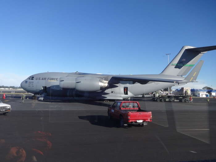 The C-17 taking us to McMurdo