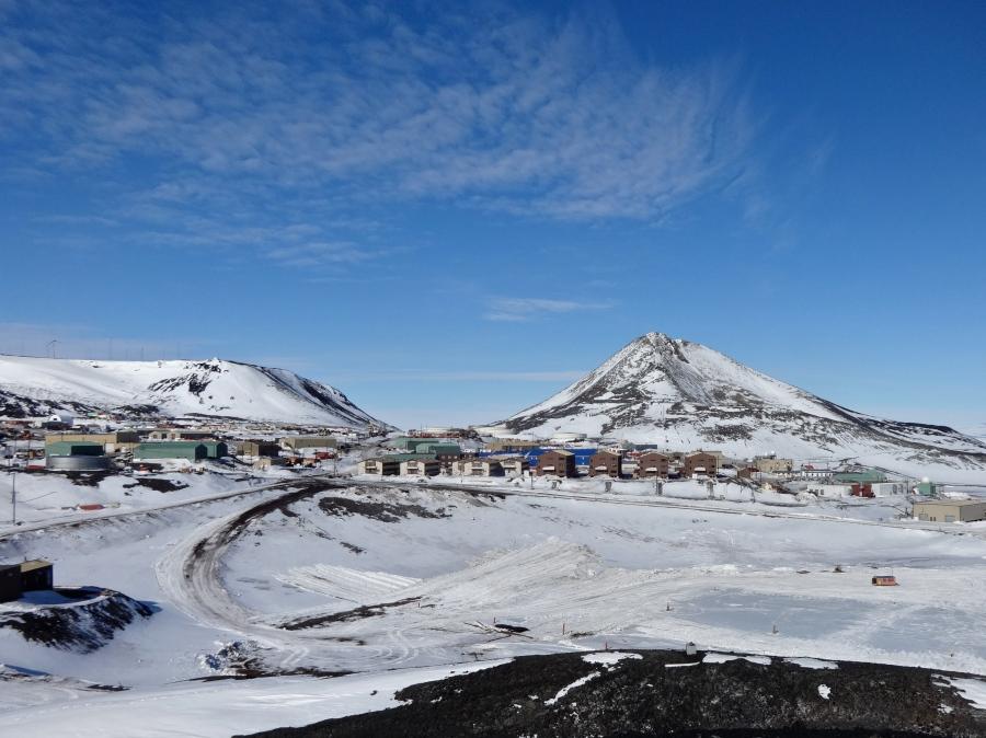 View of McMurdo from the heights.