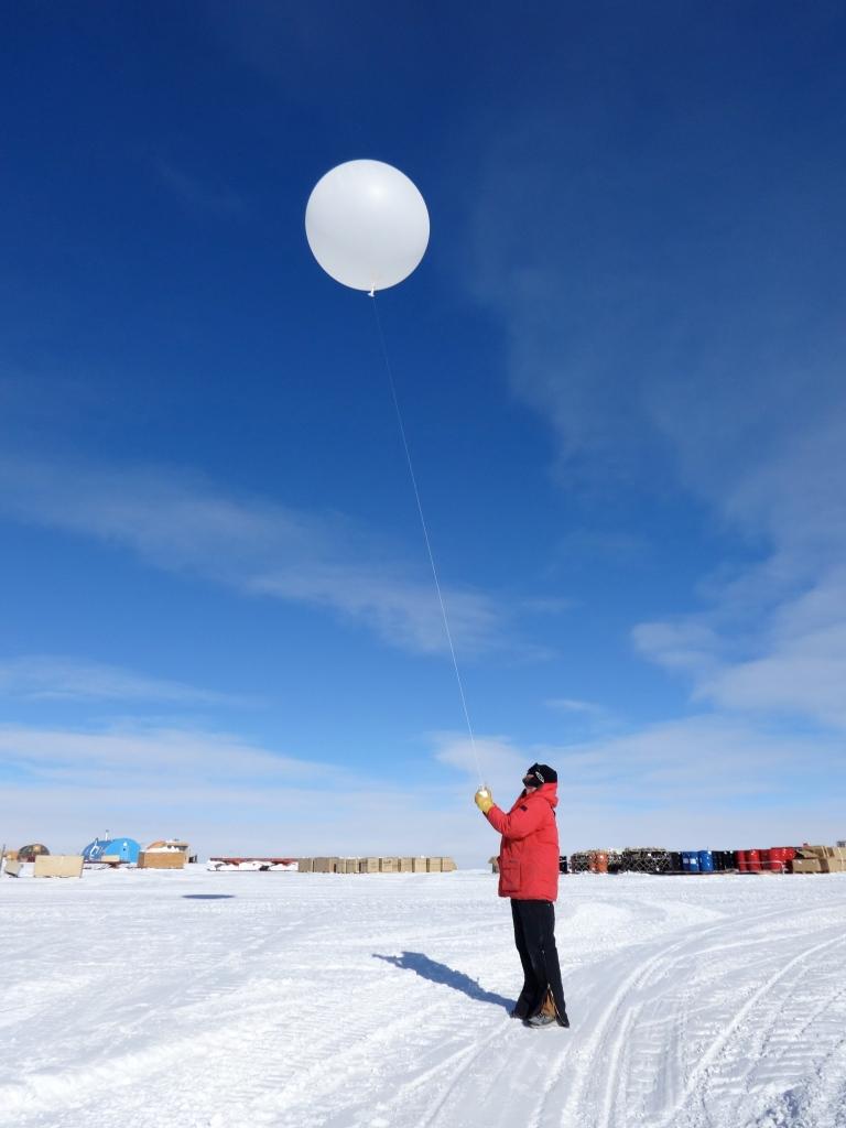 My friend Sean launching a balloon!