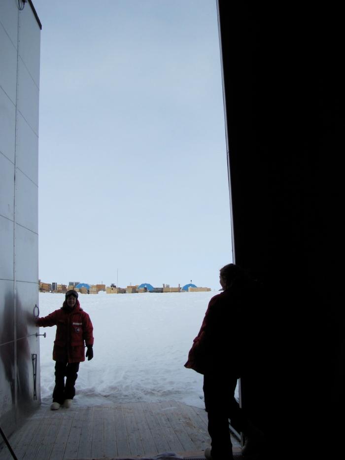 Me and the gigantic door to the BIF