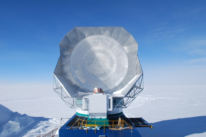The South Pole Telescope: docked and being taken over by the Event Horizon team.