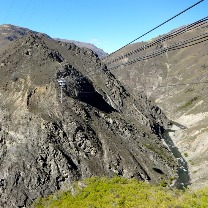 The jump platform—suspended 134 meters above the Nevis River!