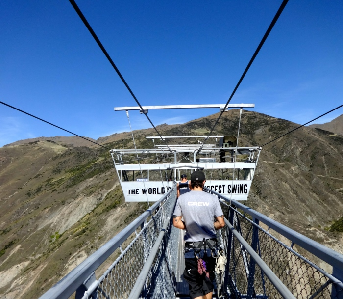 The Nevis Swing platform, not as scary as the bungy one.
