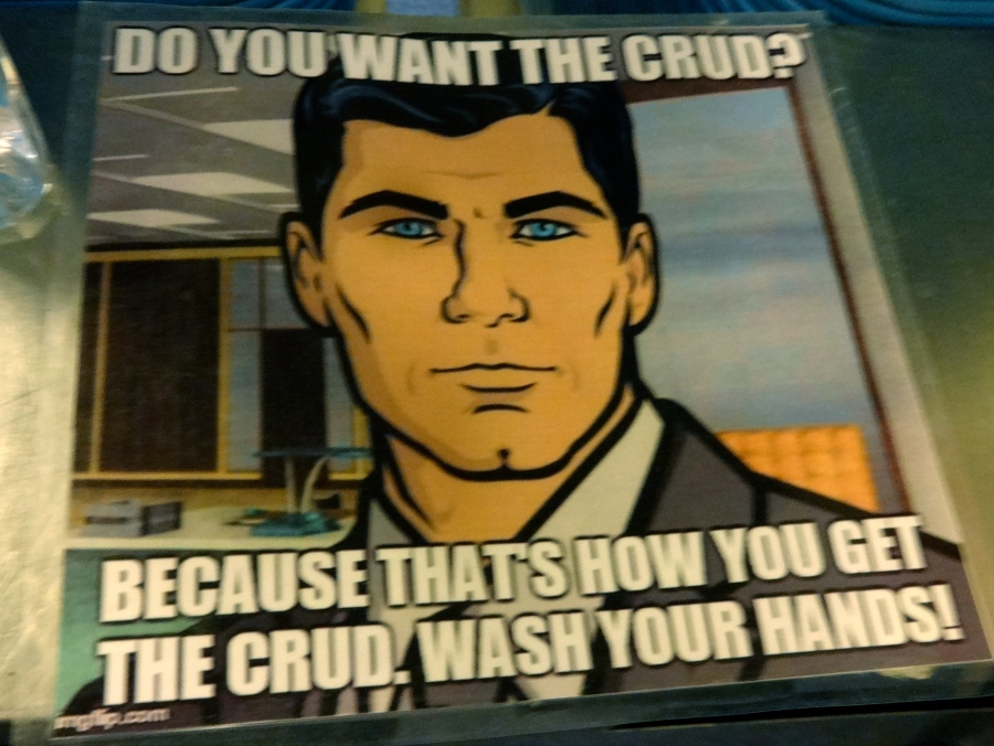 """Saw this at McMurdo... The """"crud"""" is basically getting a cold."""