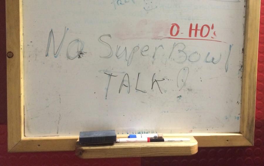 No Super Bowl Talk!
