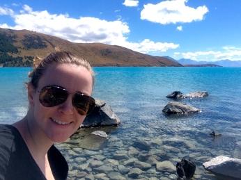 Lunch Lake Tekapu Selfie