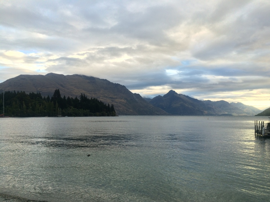 My view of Lake Wakatipu on arrival in Queenstown!