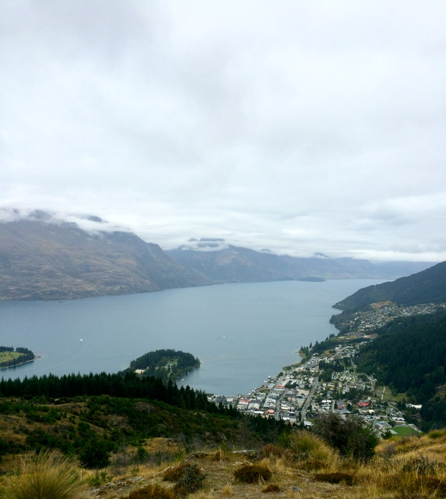 View from the top! That's Queenstown down below and Lake Wakatipu.