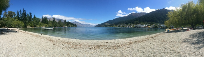 Gorgeous view of the Queenstown waterfront area. I definitely managed to get sunburnt while sitting out here admiring the beautiful scenery.