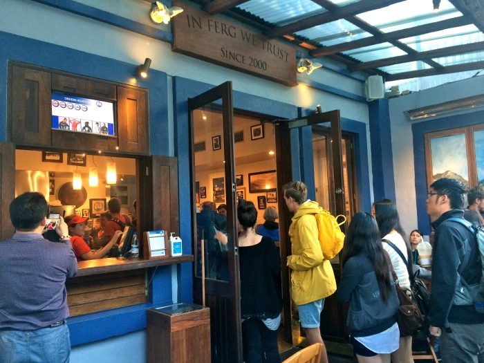 Fergburger, after 45 minutes in line we were almost there!