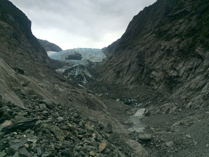 View of the glacier from the lookout point.
