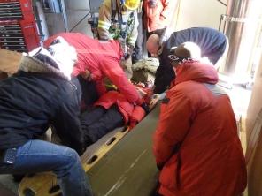 MCI: Me on a stretcher